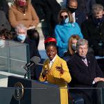 Amanda Gorman speaking at President Joe Biden's Inauguration